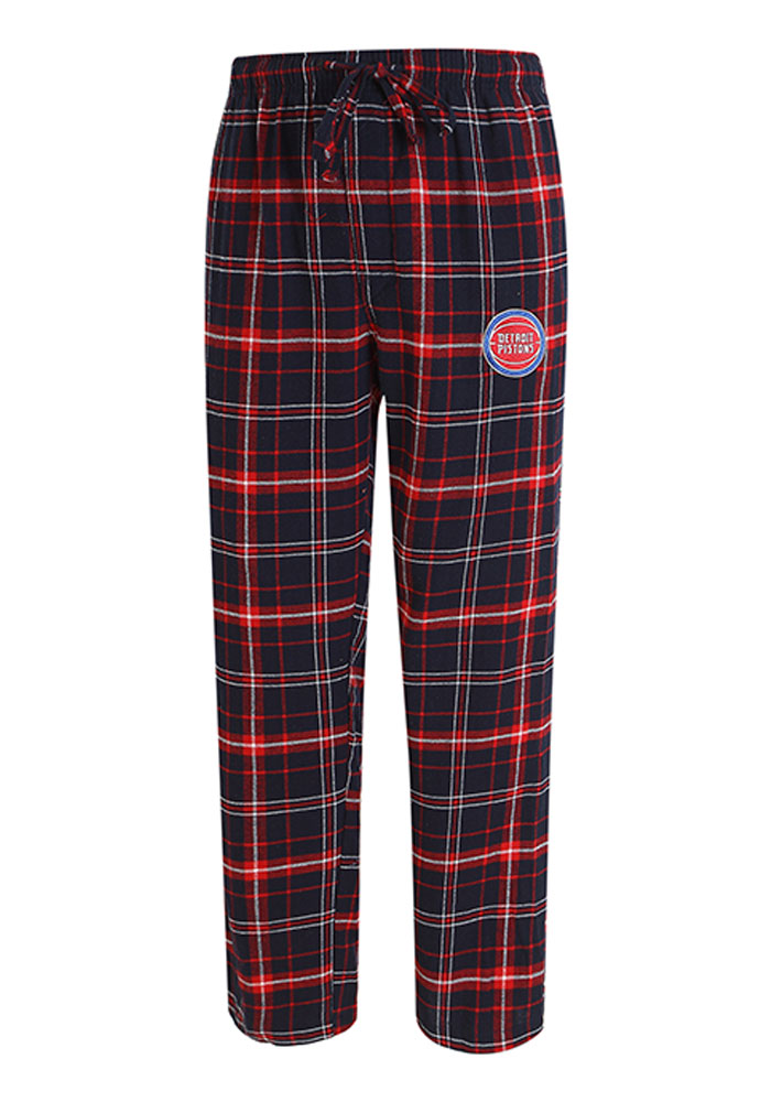 Detroit Pistons Mens Navy Blue Ultimate Flannel Sleep Pants - Image 1