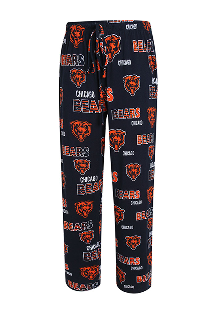 Chicago Bears Mens Navy Blue Sweep Sleep Pants, Navy Blue, 100% COTTON JERSEY KNIT, Size M