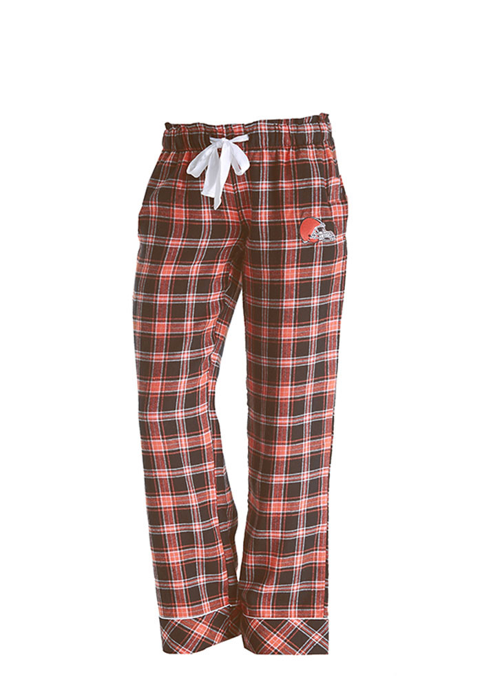 Cleveland Browns Womens Brown Captivate Sleep Pants - Image 1
