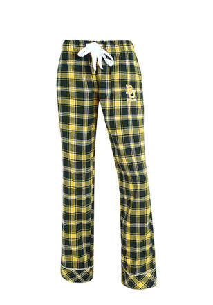Baylor Womens Flannel Green Sleep Pants