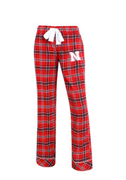 Nebraska Womens Flannel Red Sleep Pants