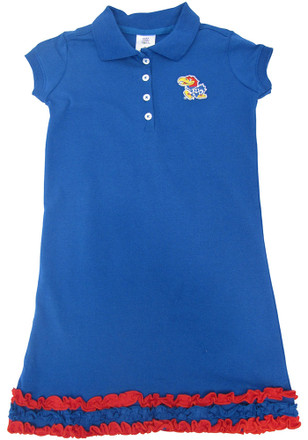 Kansas Jayhawks Toddler Girls Blue Fiesta Dresses