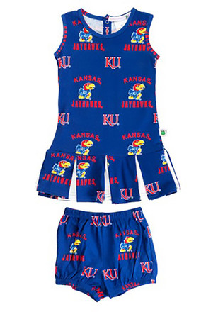 Kansas Jayhawks Toddler Girls Blue Maverick Cheer