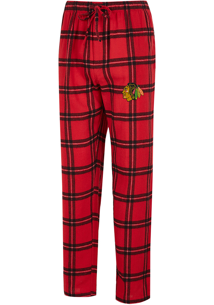 Chicago Blackhawks Mens Red Homestretch Sleep Pants - Image 1