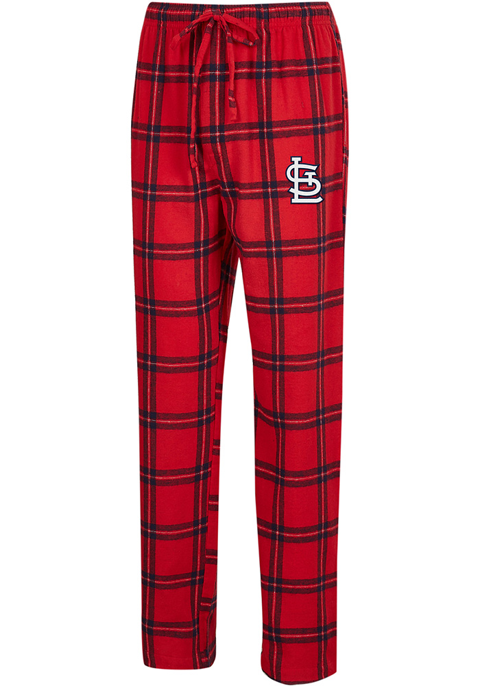 St Louis Cardinals Mens Red Homestretch Sleep Pants - Image 1