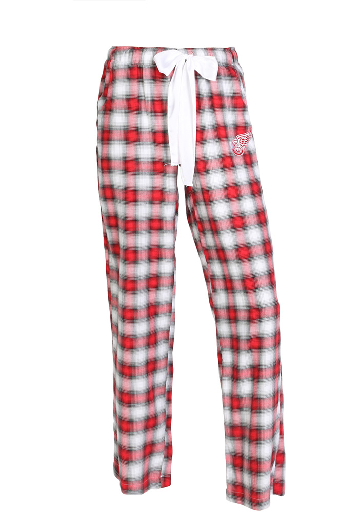Detroit Red Wings Womens Red Plaid Forge Sleep Pants - Image 1