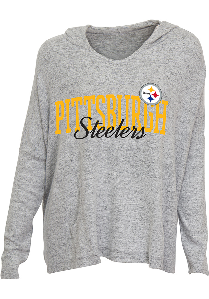 Pittsburgh Steelers Womens Grey Reprise Hoodie d383e72b3