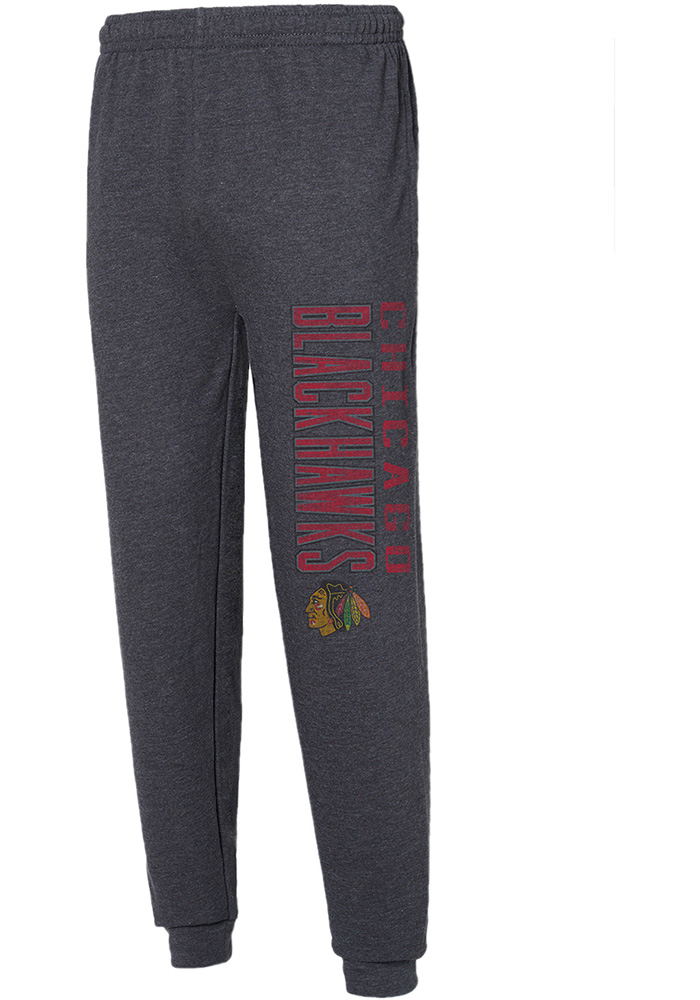 Chicago Blackhawks Mens Grey Squeeze Play Sweatpants - Image 1