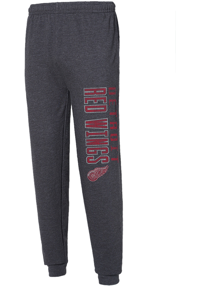 Detroit Red Wings Mens Grey Squeeze Play Sweatpants - Image 1