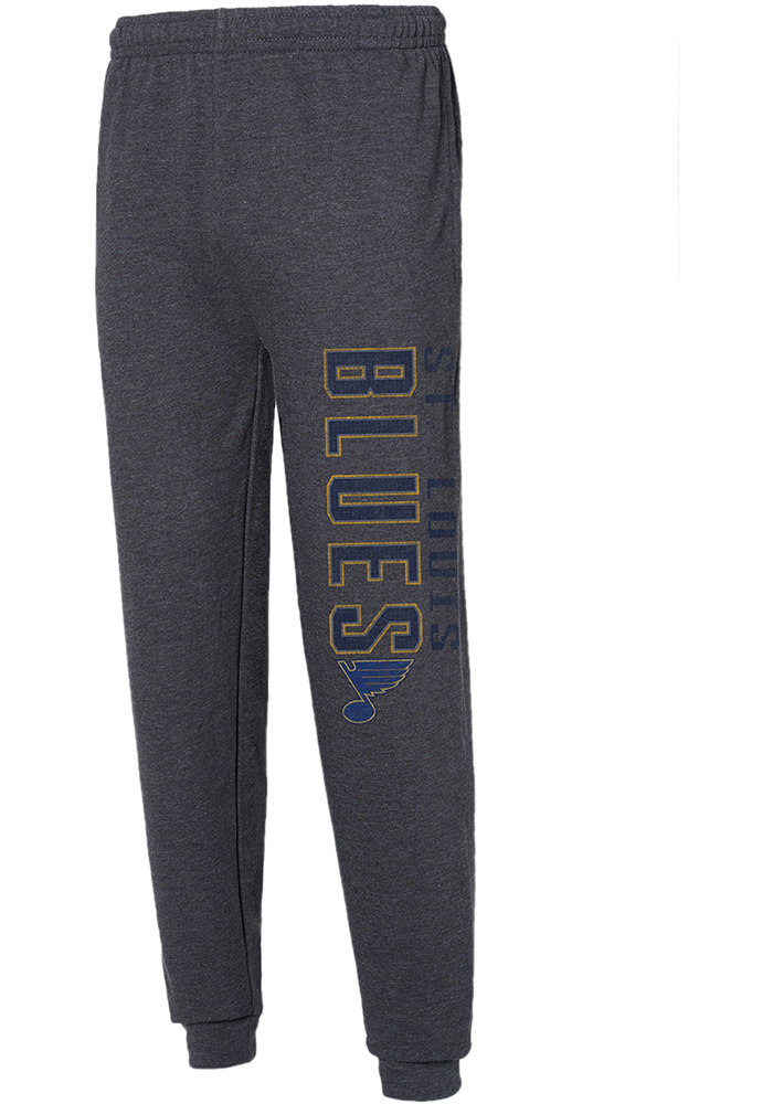 St Louis Blues Mens Charcoal Squeeze Play Sweatpants - Image 1