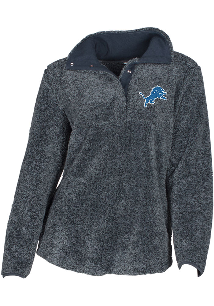 Detroit Lions Womens Trifecta Grey 1/4 Zip Pullover