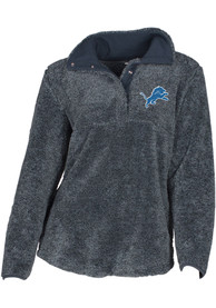 Detroit Lions Womens Trifecta Charcoal 1/4 Zip Pullover
