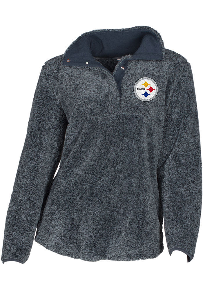 Pittsburgh Steelers Womens Grey Trifecta 1/4 Zip Pullover - Image 1