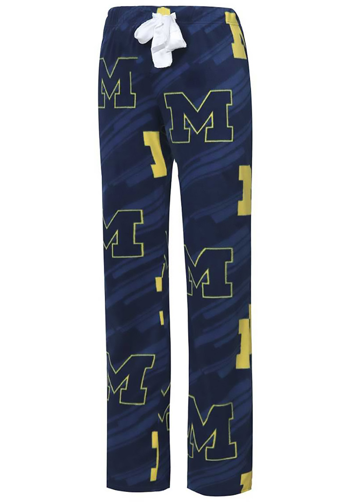 Michigan Wolverines Womens Navy Blue Grandstand Sleep Pants - Image 1