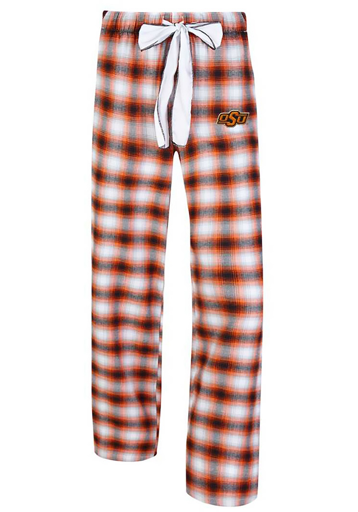 Oklahoma State Cowboys Womens Black Forge Plaid Loungewear Sleep Pants - Image 1