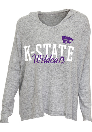 K-State Wildcats Womens Grey Reprise Hoodie