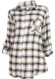 Pitt Panthers Womens Forge Plaid Sleep Shirt - Navy Blue