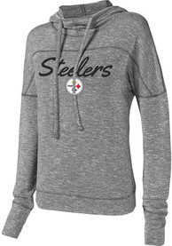Pittsburgh Steelers Womens Grey Marble Hoodie