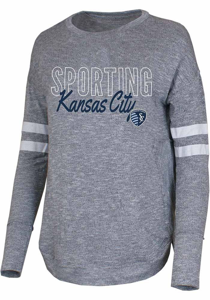 Sporting Kansas City Womens Grey Marble Loungewear Sleep Shirt - Image 1