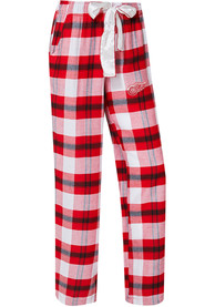 Detroit Red Wings Womens Headway Plaid Red Sleep Pants