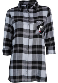 Cincinnati Bearcats Womens Headway Plaid Sleep Shirt - Black