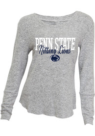 Penn State Nittany Lions Womens Reprise Sleep Shirt - Grey