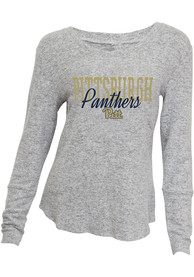 Pitt Panthers Womens Reprise Sleep Shirt - Grey