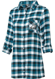 Philadelphia Eagles Womens Piedmont Sleep Shirt - Midnight Green