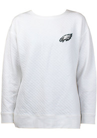 Philadelphia Eagles Womens Lunar Quilted White Crew Sweatshirt