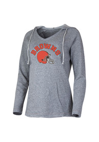 Cleveland Browns Womens Grey Mainstream Hoodie