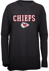 Kansas City Chiefs Womens Rapture Crew Sweatshirt - Black