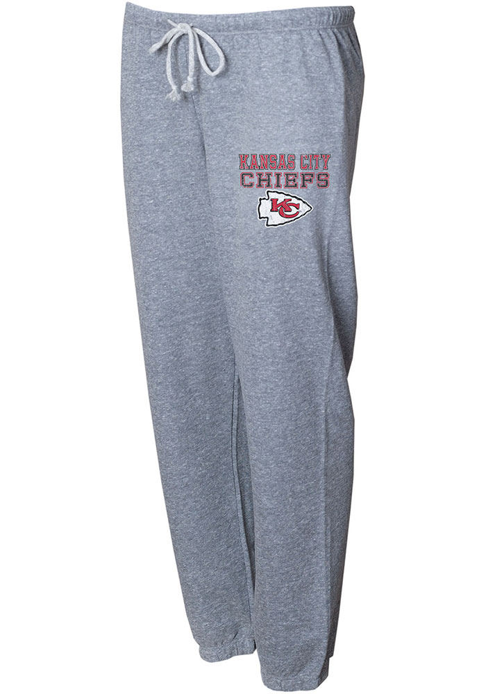 Kansas City Chiefs Womens Mainstream Grey Sweatpants - Image 1