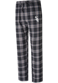 Chicago White Sox Parkway Plaid Sleep Pants - Black