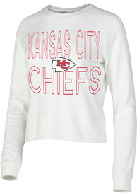 Kansas City Chiefs Womens Colonnade Crew Sweatshirt - White