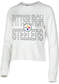Pittsburgh Steelers Womens Colonnade Crew Sweatshirt - White