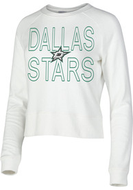 Dallas Stars Womens Colonnade Crew Sweatshirt - White
