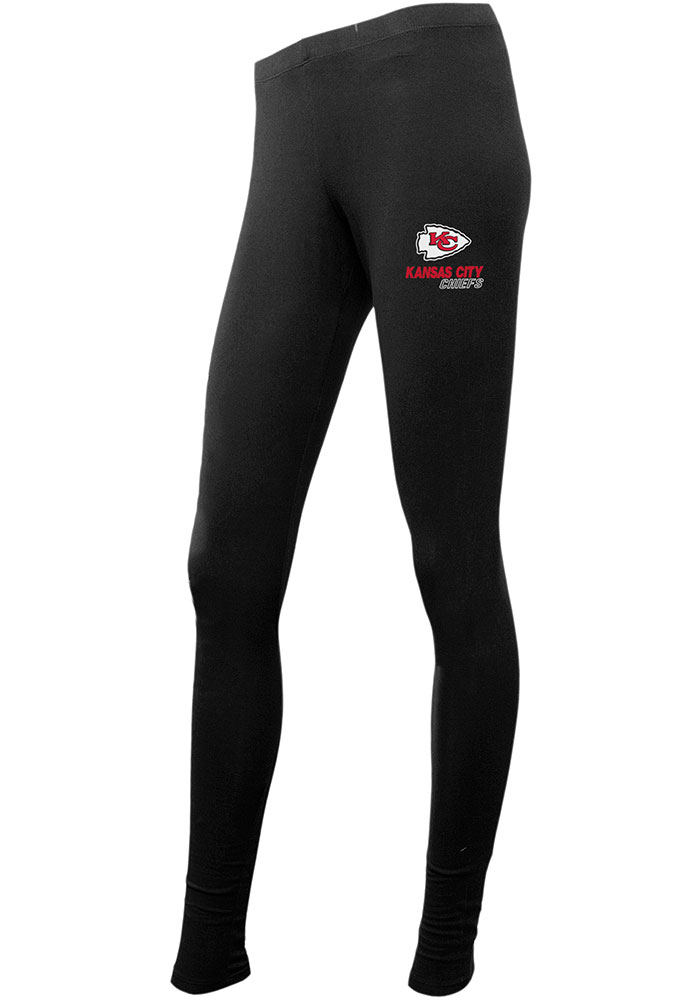 Kansas City Chiefs Womens Black Fraction Pants - Image 1