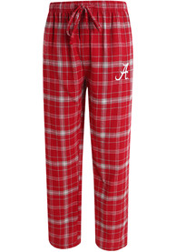 Alabama Crimson Tide Plaid Flannel Flannel Sleep Pants - Crimson