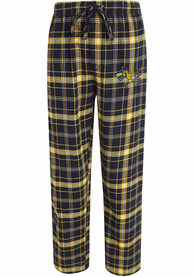 Drexel Dragons Plaid Flannel Flannel Sleep Pants - Navy Blue