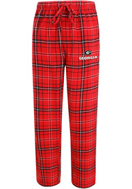 Georgia Bulldogs Plaid Flannel Flannel Sleep Pants - Red