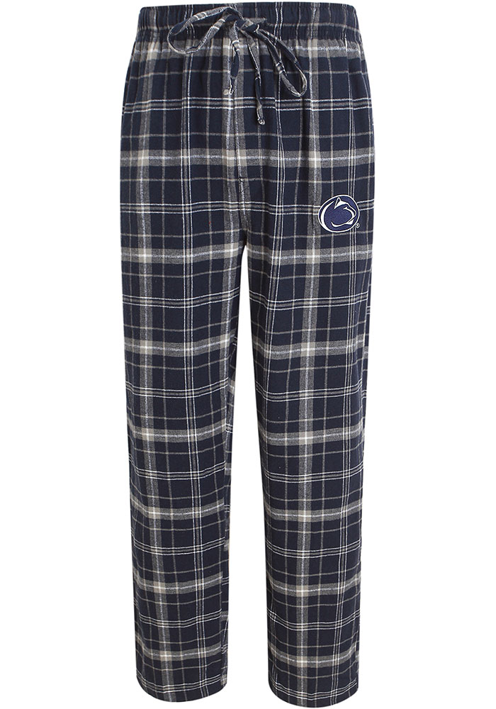 Penn State Nittany Lions Plaid Flannel Flannel Sleep Pants - Navy Blue