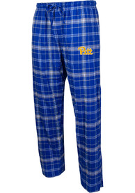 Pitt Panthers Plaid Flannel Flannel Sleep Pants - Blue