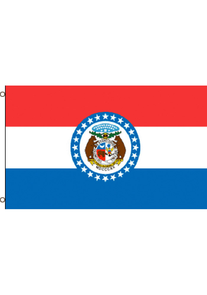 Missouri 3x5 Grommet Blue Silk Screen Grommet Flag - Image 2