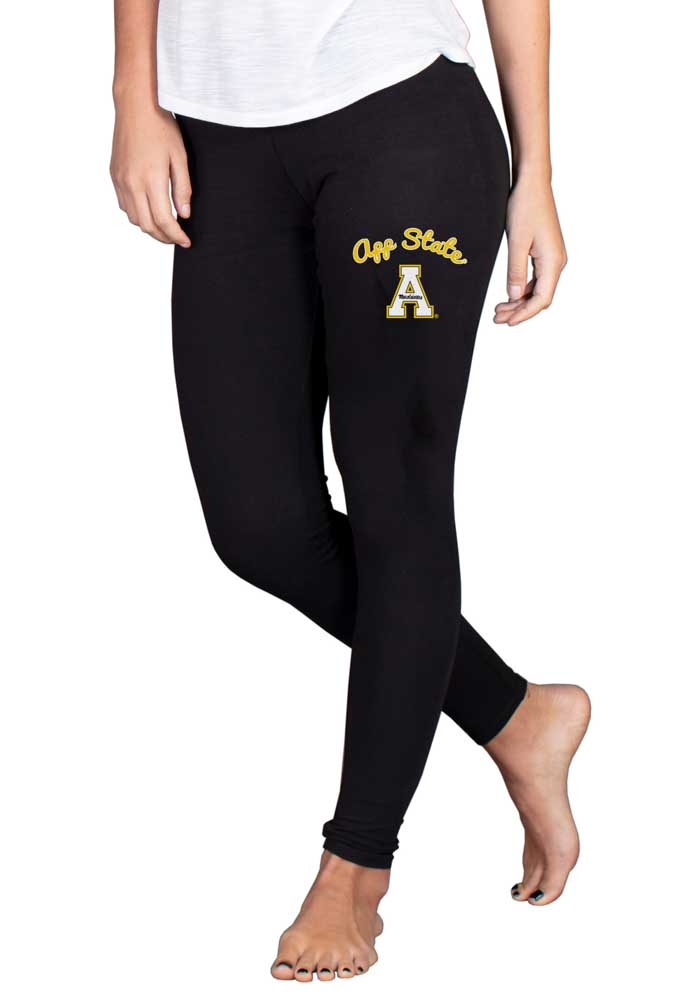 Appalachian State Mountaineers Womens Black Fraction Pants - Image 1