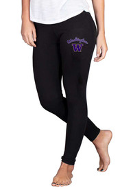 Washington Huskies Womens Fraction Pants - Black