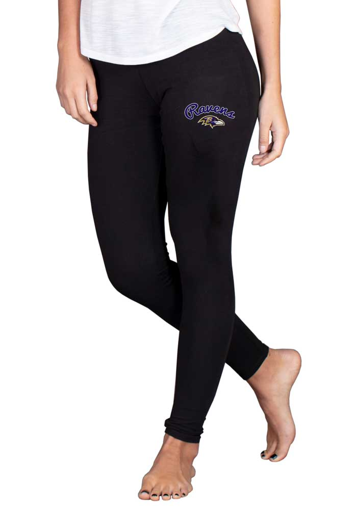 Baltimore Ravens Womens Black Fraction Pants - Image 1