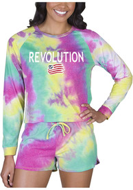 New England Revolution Womens Tie Dye Long Sleeve PJ Set - Yellow