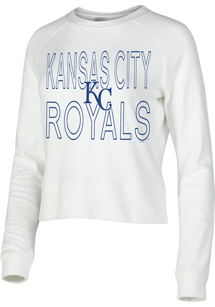 Kansas City Royals Womens White Colonnade Crew Sweatshirt - Image 1