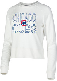 Chicago Cubs Womens Colonnade Crew Sweatshirt - White