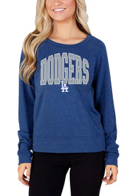 Los Angeles Dodgers Womens Mainstream Crew Sweatshirt - Blue